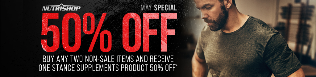 BUY ANY TWO NON-SALE ITEMS AND RECEIVE ONE STANCE SUPPLEMENT PRODUCT FOR 50% OFF*